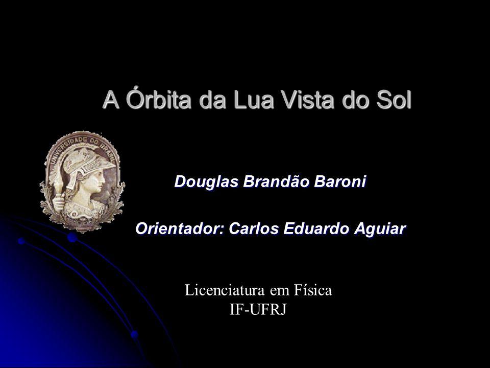 A Órbita da Lua Vista do Sol Douglas Brandão Baroni Orientador: Carlos Eduardo Aguiar Licenciatura em Física IF-UFRJ