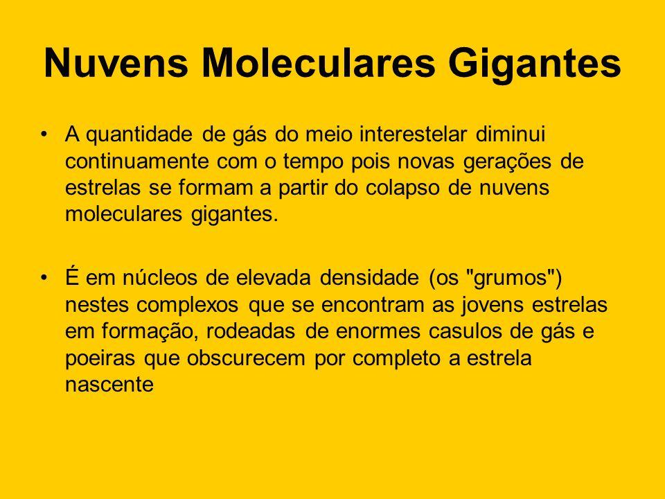 Nuvens Moleculares Gigantes Nuvens Moleculares Sol Raioaprox.