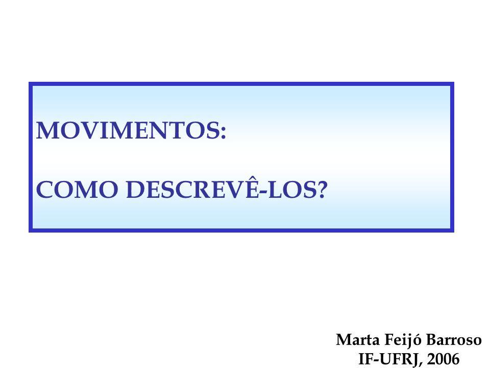 MOVIMENTOS: COMO DESCREVÊ-LOS? Marta Feijó Barroso IF-UFRJ, 2006