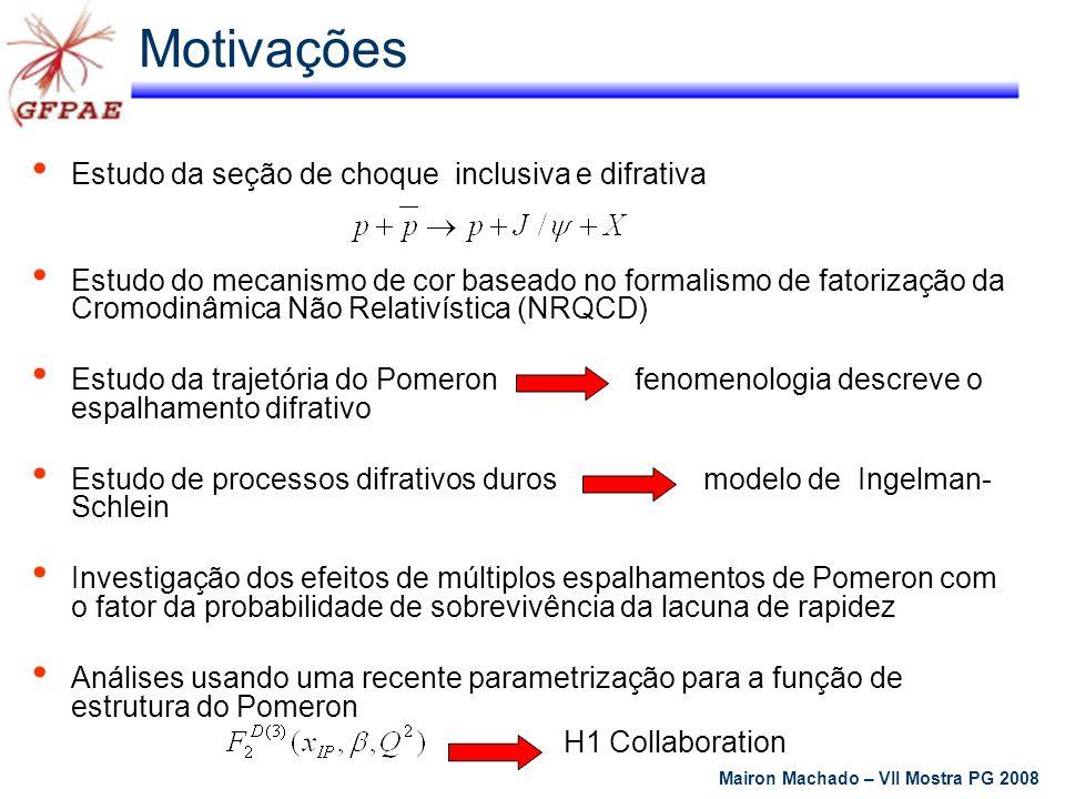 Estudo da seção de choque inclusiva e difrativa Estudo do mecanismo de cor baseado no formalismo de fatorização da Cromodinâmica Não Relativística (NR