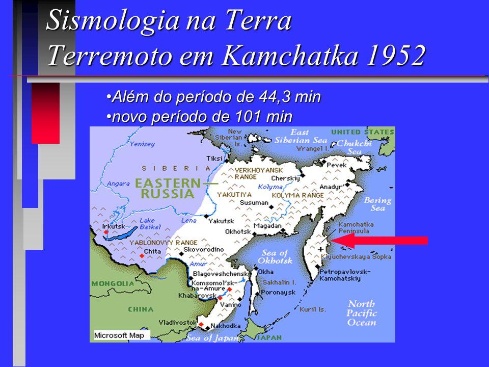 Sismologia Luigi Palmieri (1807-1896), italiano, estudou a passagem das ondas em areia, determinando a velocidade de 825 pés/s e em granito sólido, 1665 pés/s, além de outros materiais e propôs o uso da palavra sismologia.