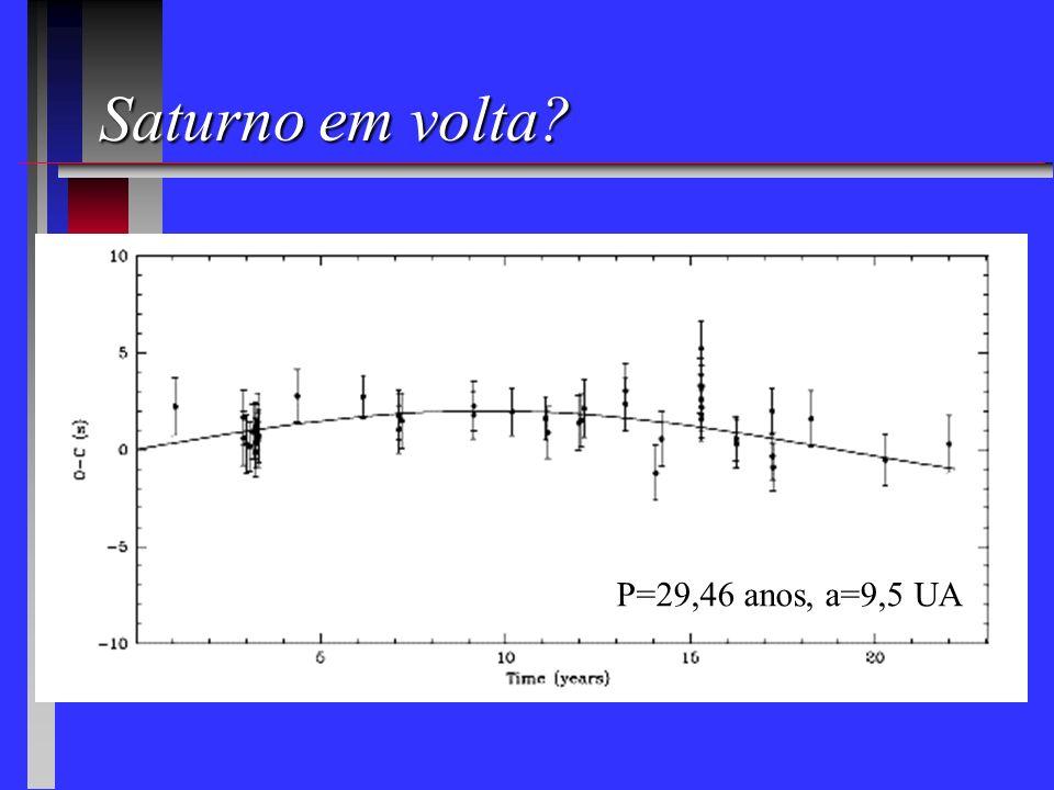 Júpiter em volta? P=11,86 anos, a=5,2 UA