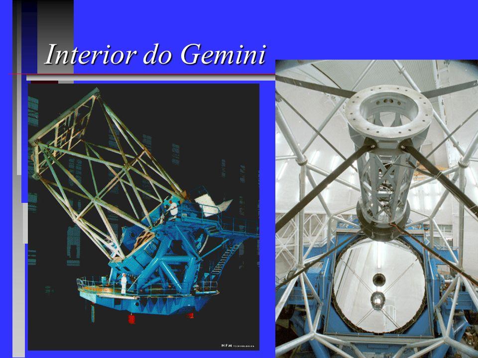Novos telescópios para o Brasil Gemini: 2 telescópios de 8m (2,5%) Mauna Kea: Havaí 1999 1999 Cerro Pachon: Chile 2000 2000