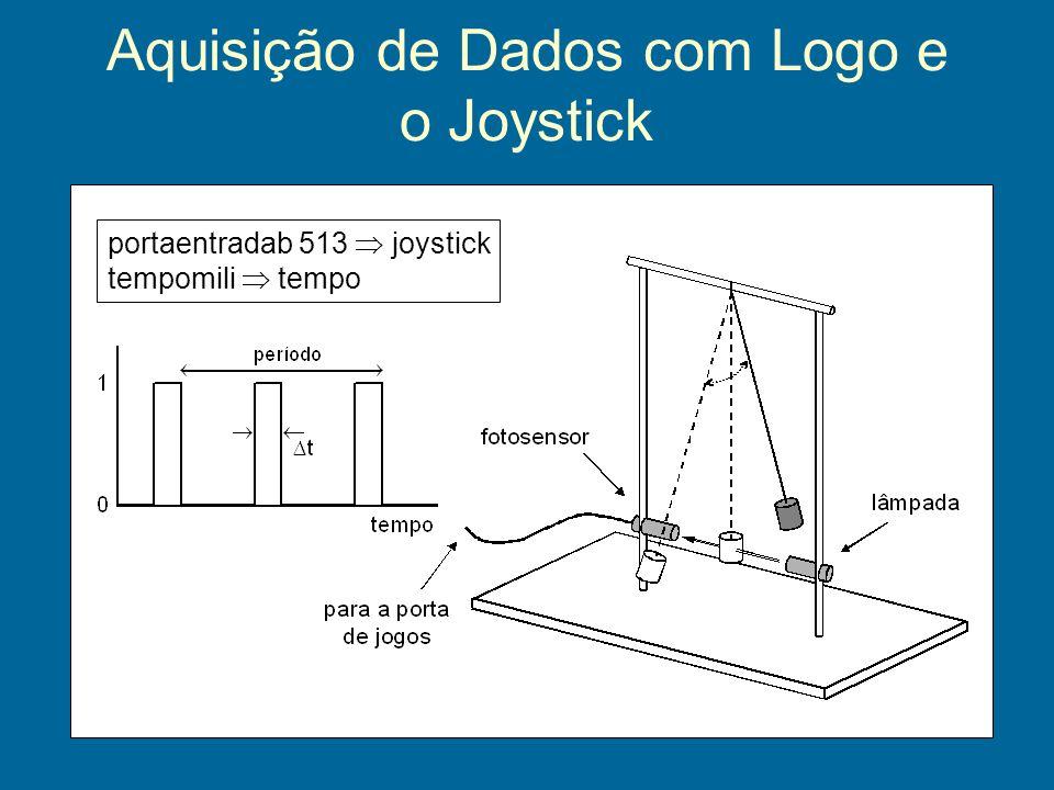 Aquisição de Dados com Logo e o Joystick portaentradab 513 joystick tempomili tempo
