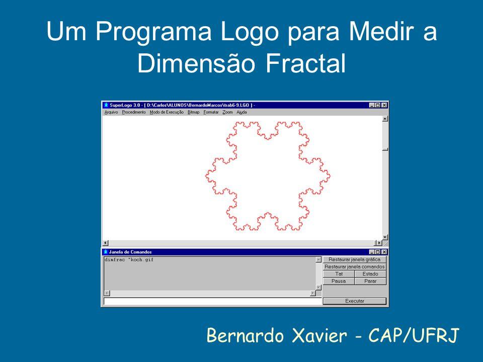 Um Programa Logo para Medir a Dimensão Fractal Bernardo Xavier - CAP/UFRJ