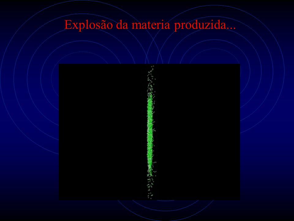 Explosão da materia produzida...