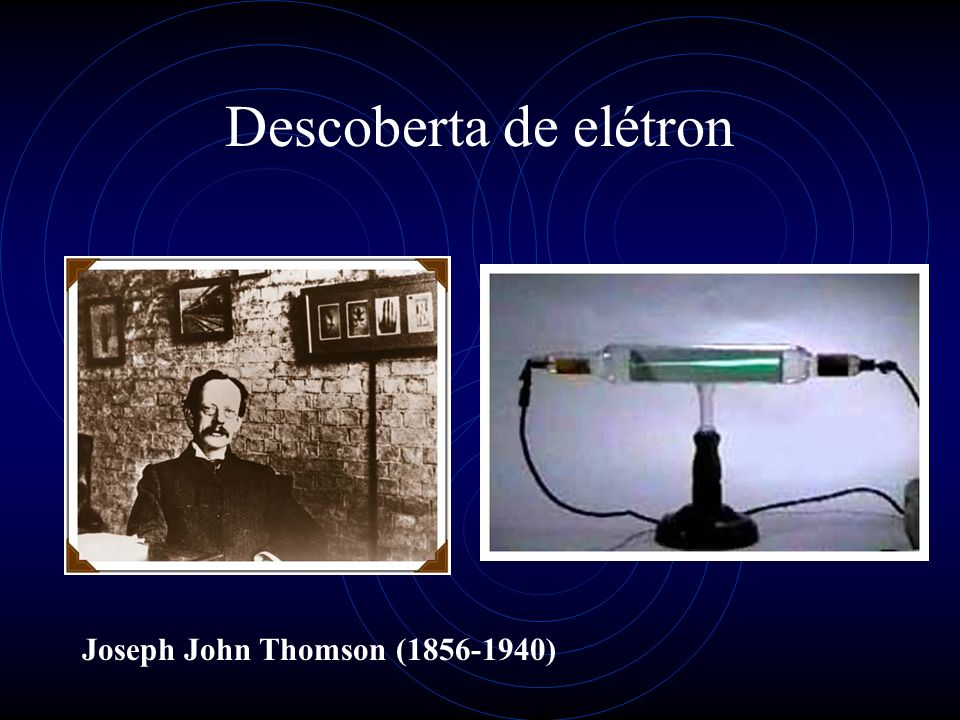 Descoberta de elétron Joseph John Thomson (1856-1940)