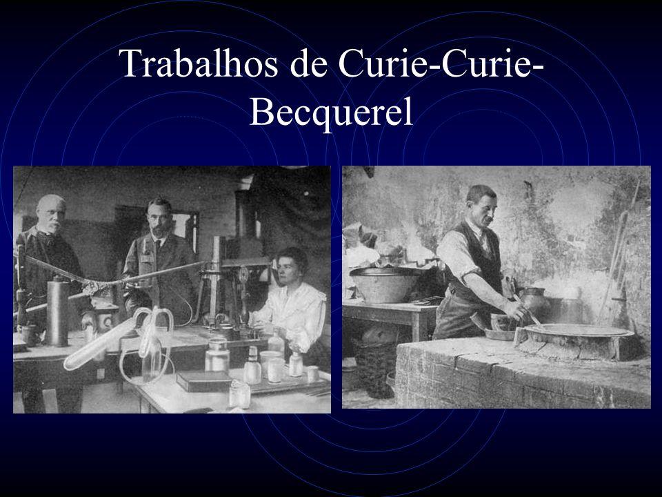Trabalhos de Curie-Curie- Becquerel