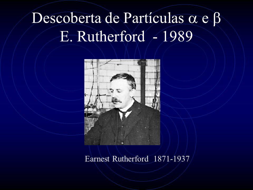 Descoberta de Partículas e Rutherford - 1989 Earnest Rutherford 1871-1937