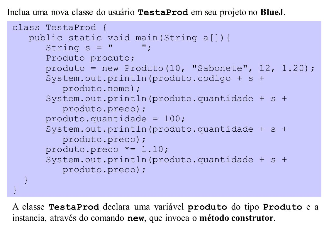 class TestaProd { public static void main(String a[]){ String s =