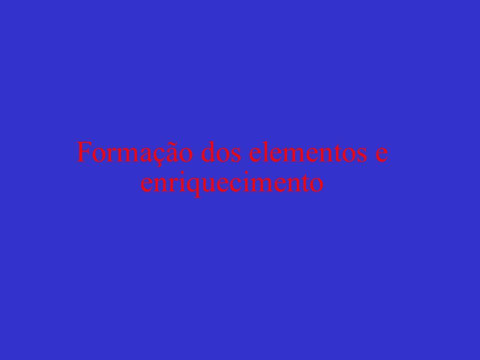 Formação dos elementos e enriquecimento