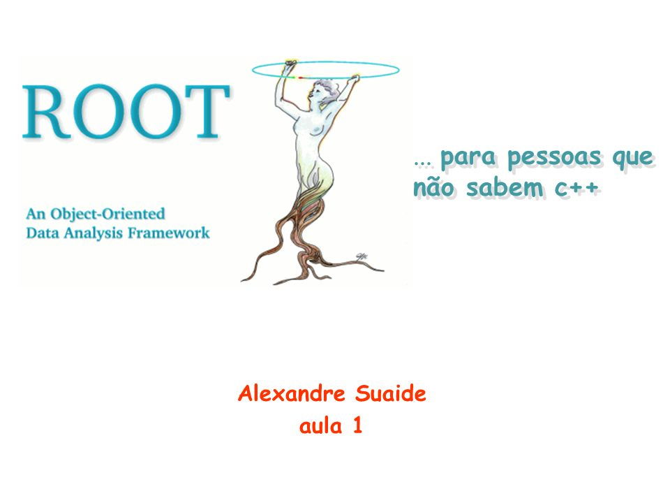 Alguns padrões no código do ROOT facilita a aprendizagem ClassesComeçam com TTBrowser, TH1F TiposTerminam com _tInt_t Membros de classesComeçam com ffSize Funções membrosComeçam com maiúsculo Get(), SetSize() ConstantesComeçam com kkRed Variáveis estáticasComeçam com ggROOT, gSystem Membros estáticosComeçam com fgfgTokenClient