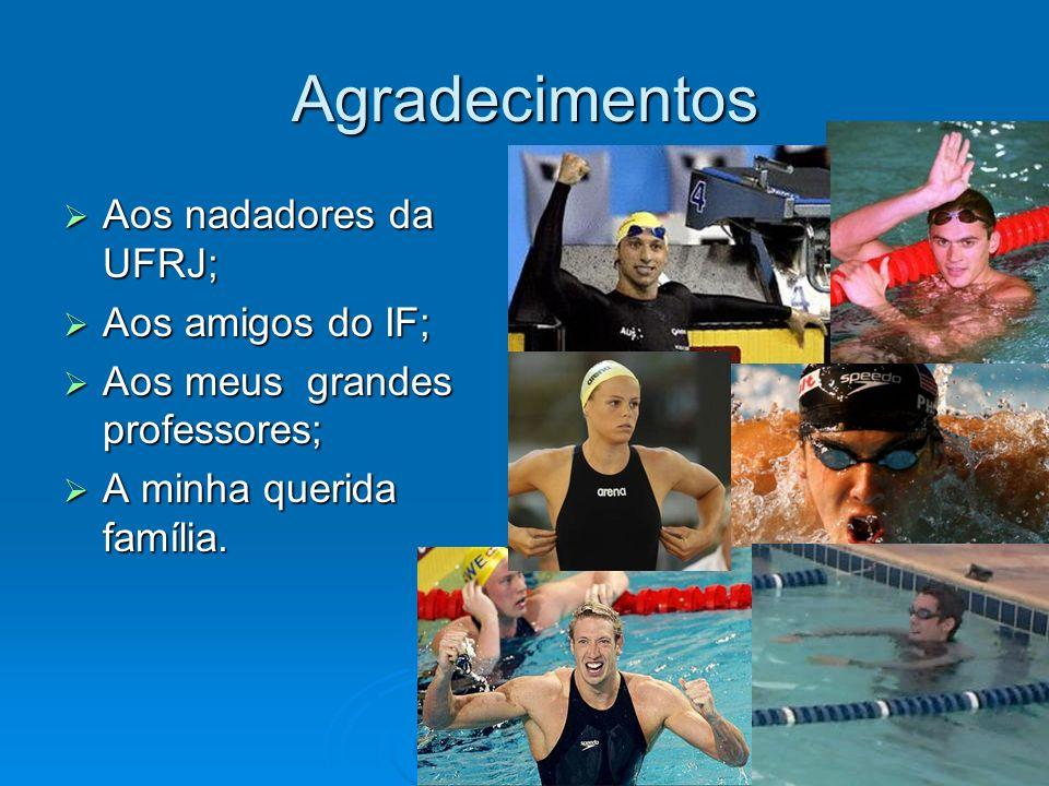 Agradecimentos Aos nadadores da UFRJ; Aos nadadores da UFRJ; Aos amigos do IF; Aos amigos do IF; Aos meus grandes professores; Aos meus grandes profes