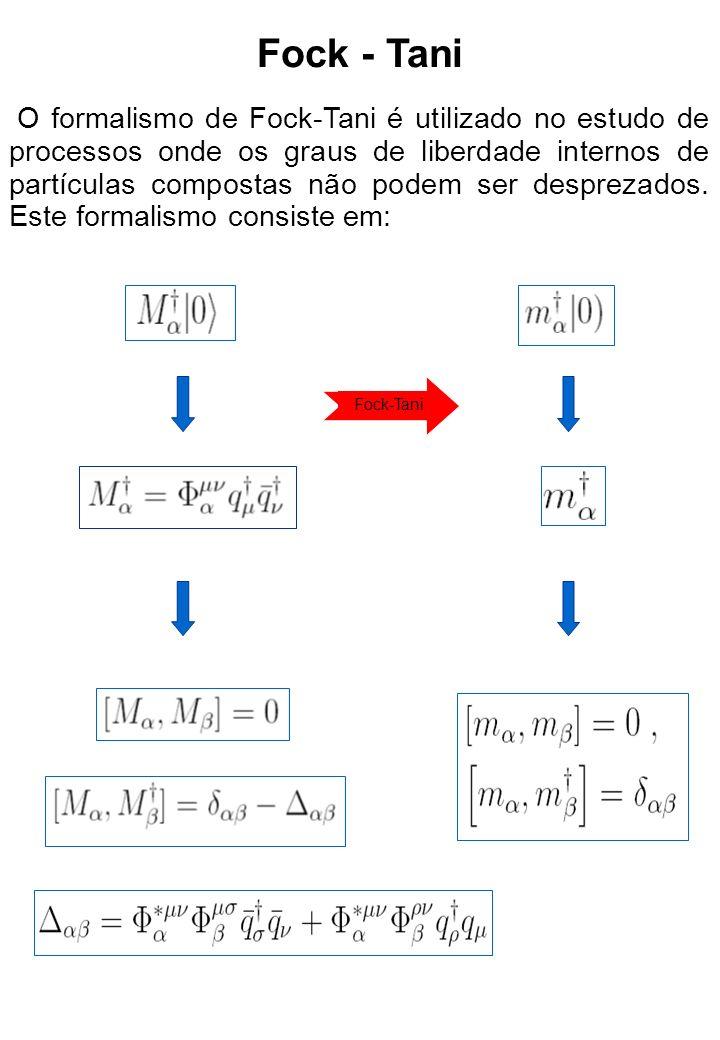 Aplicando a transformação de Fock-Tani H FT = U -1 U, temos sendo o Kernel de estado ligado onde O Modelo C 3 P 0