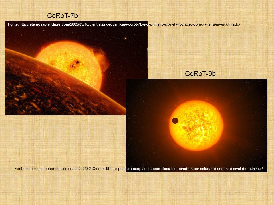 CoRoT-7b Fonte: http://eternosaprendizes.com/2009/09/16/cientistas-provam-que-corot-7b-e-o-primeiro-planeta-rochoso-como-a-terra-ja-encontrado/ CoRoT-