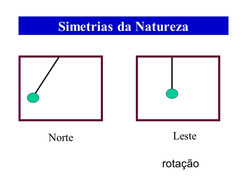 Simetrias da Natureza rotação Norte Leste