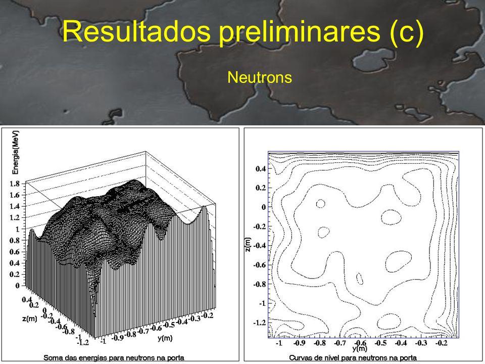 Resultados preliminares (c) Neutrons