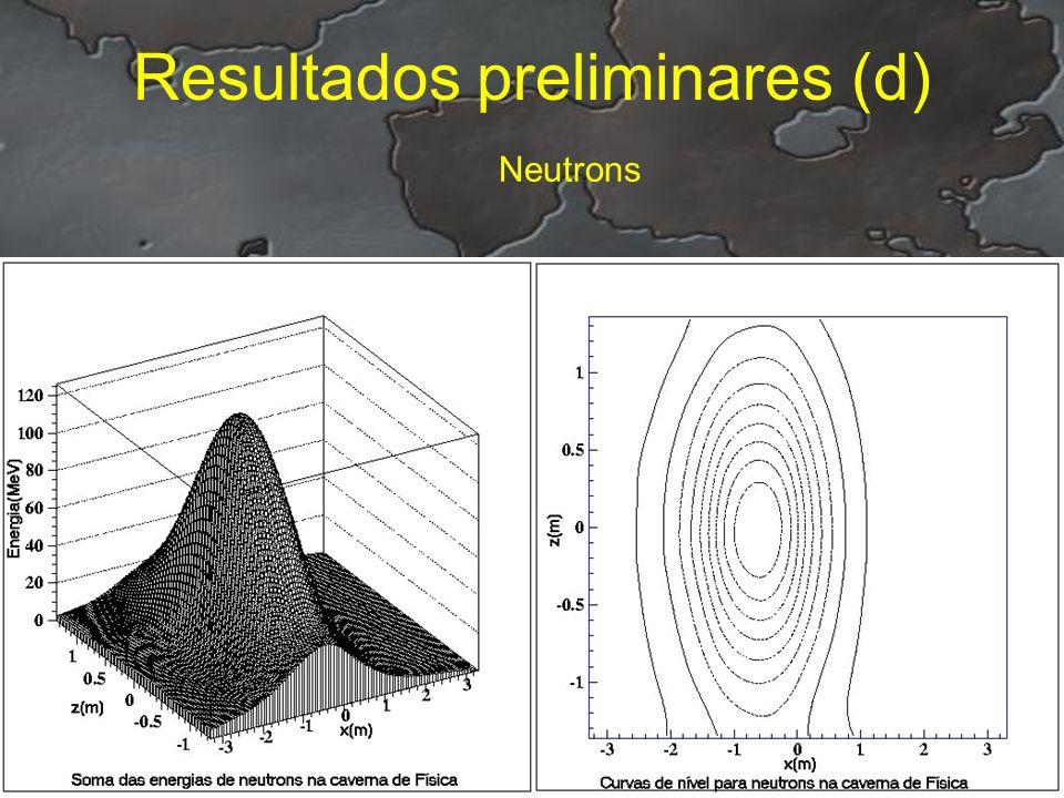 Resultados preliminares (d) Neutrons
