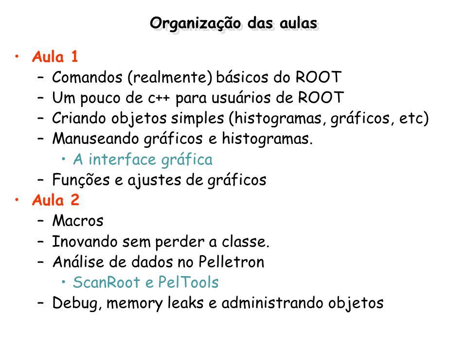 Macros no ROOT O que é um macro.–Conjunto de comandos (como um programa) gravados em um arquivo.