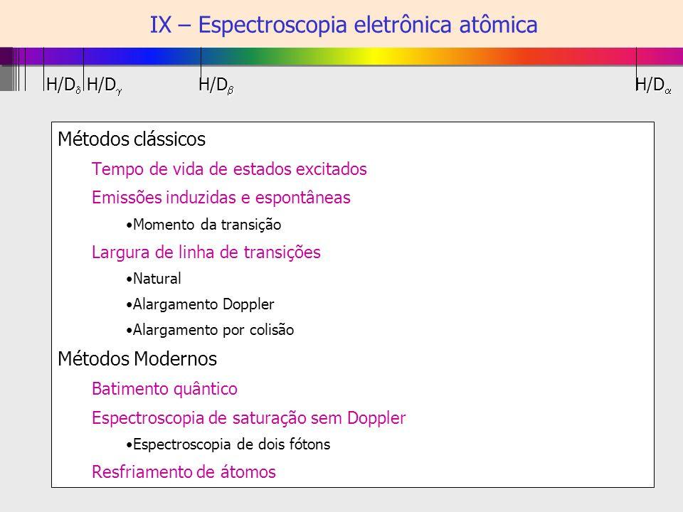 IX.A - Retorno às simetrias e às regras de seleção para transição dipolar elétrica REGRAObs.