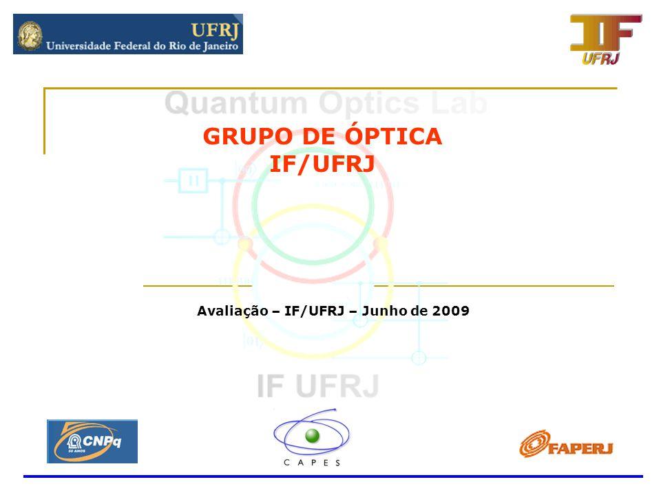 GRUPO DE ÓPTICA IF/UFRJ Avaliação – IF/UFRJ – Junho de 2009