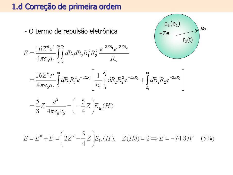 1.e Simetrias eletrônicas r1r1 +Ze r2r2 r2r2 r1r1 indiferenciável - O spin eletrônico W.