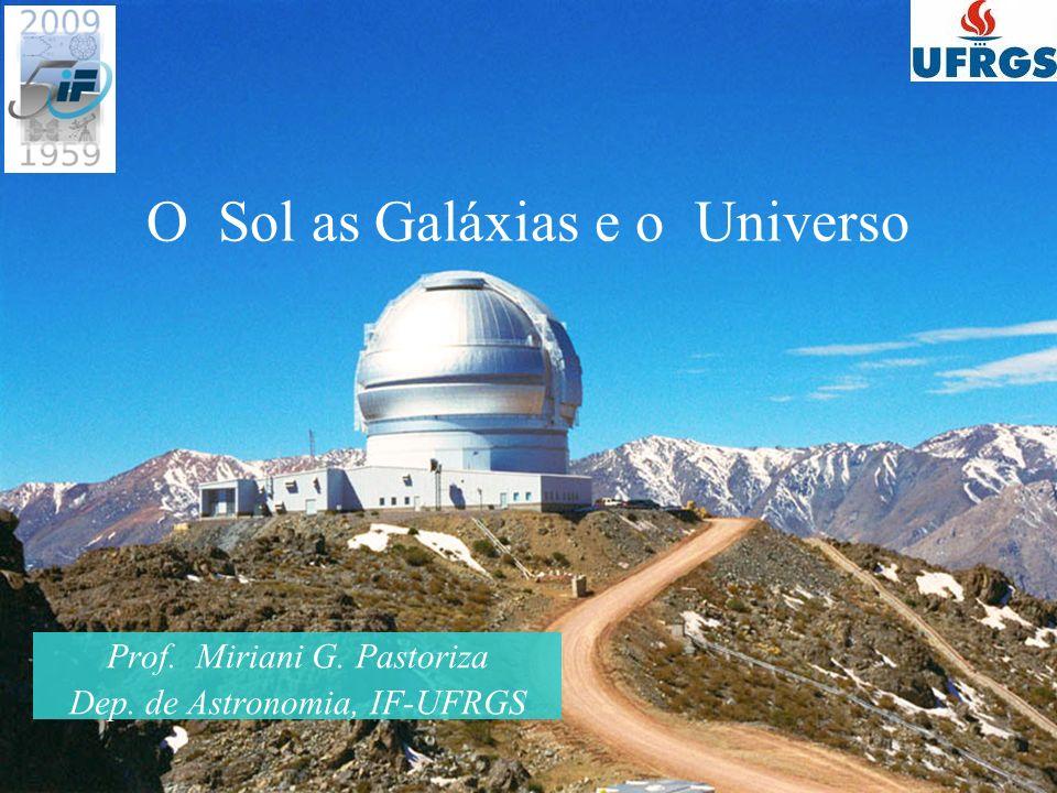O Sol as Galáxias e o Universo Prof. Miriani G. Pastoriza Dep. de Astronomia, IF-UFRGS