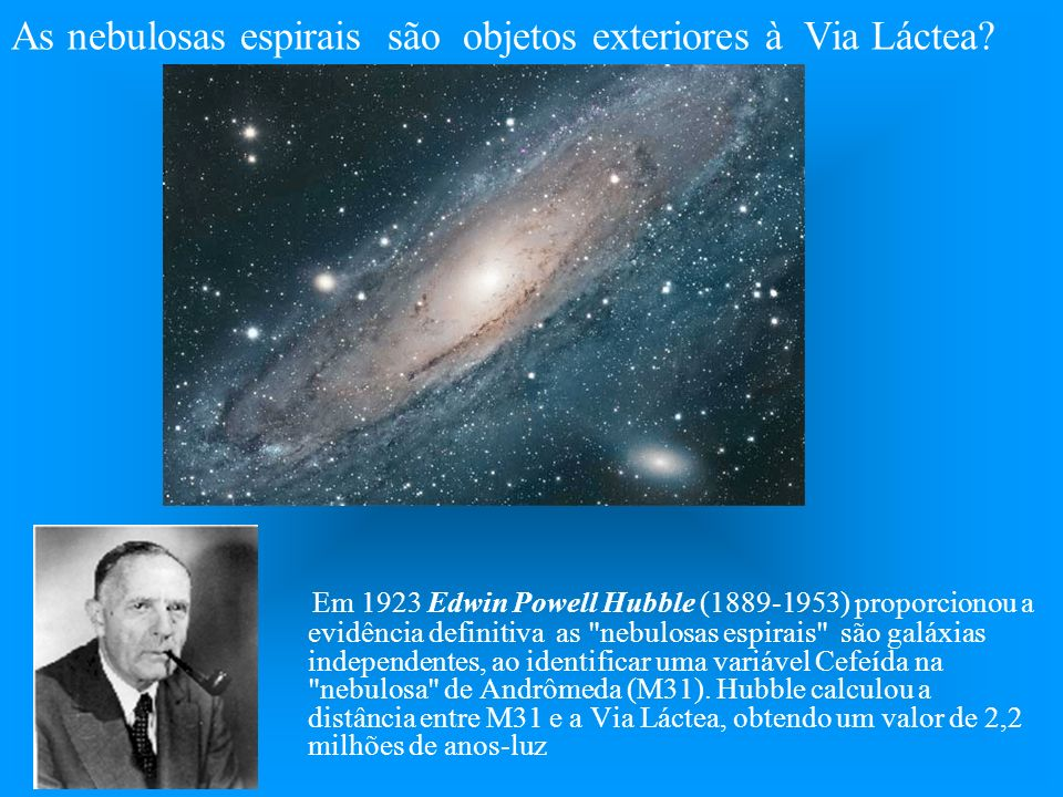 the achievements of edwin powell hubble