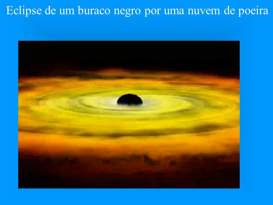 Eclipse de um buraco negro por uma nuvem de poeira
