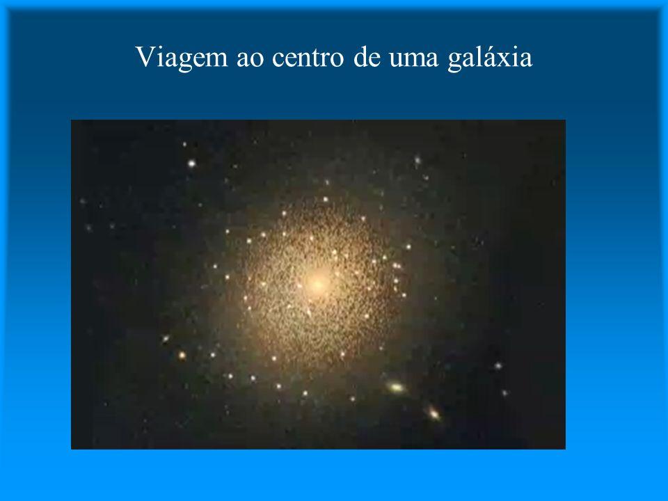 Viagem ao centro de uma galáxia