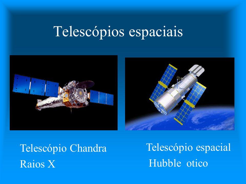 Telescópios espaciais Telescópio espacial Hubble otico Telescópio Chandra Raios X