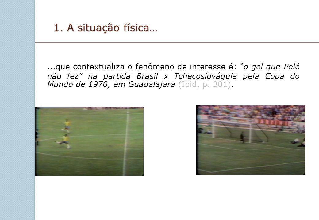1. A situação física…...que contextualiza o fenômeno de interesse é: o gol que Pelé não fez na partida Brasil x Tchecoslováquia pela Copa do Mundo de