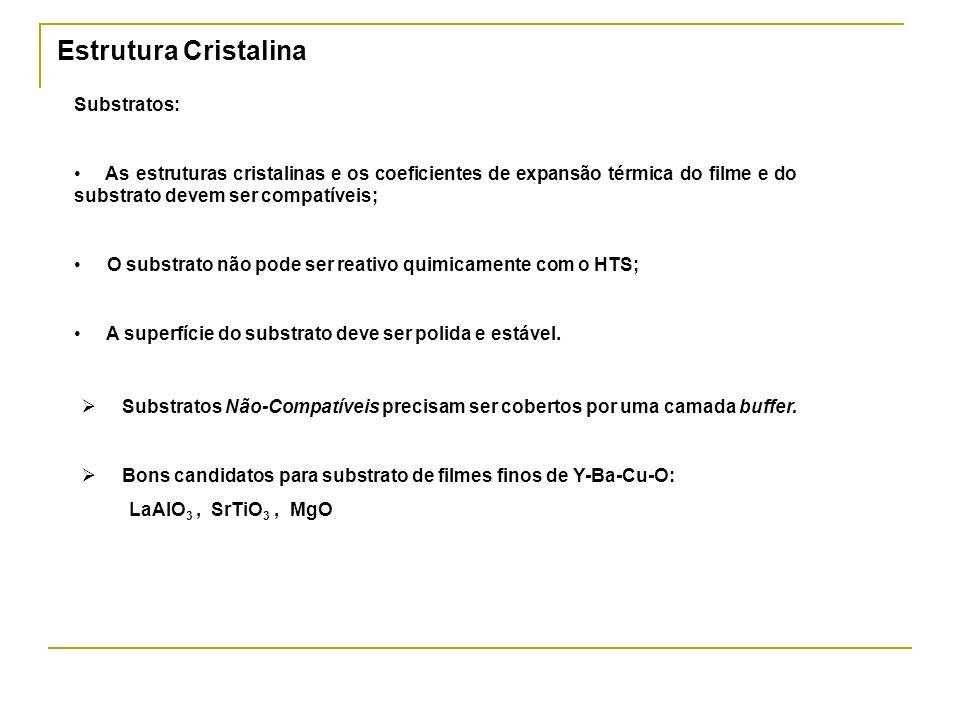Estrutura Cristalina Substratos: As estruturas cristalinas e os coeficientes de expansão térmica do filme e do substrato devem ser compatíveis; O subs