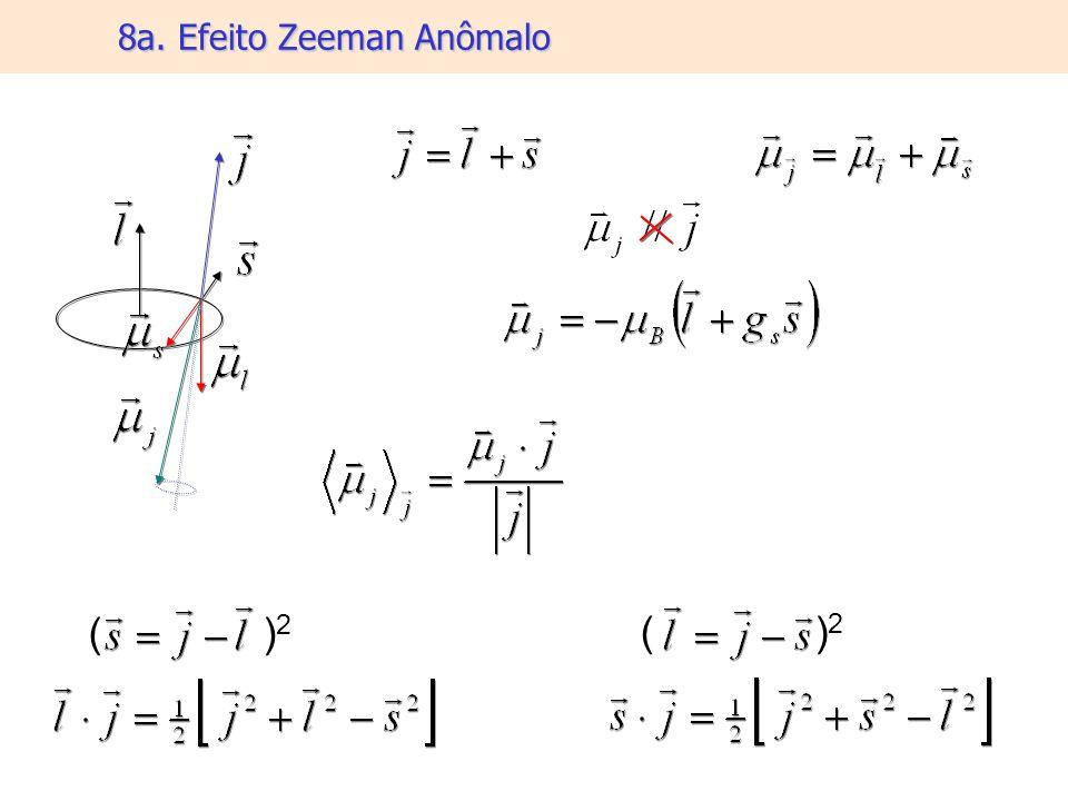 8a. Efeito Zeeman Anômalo ( ) 2