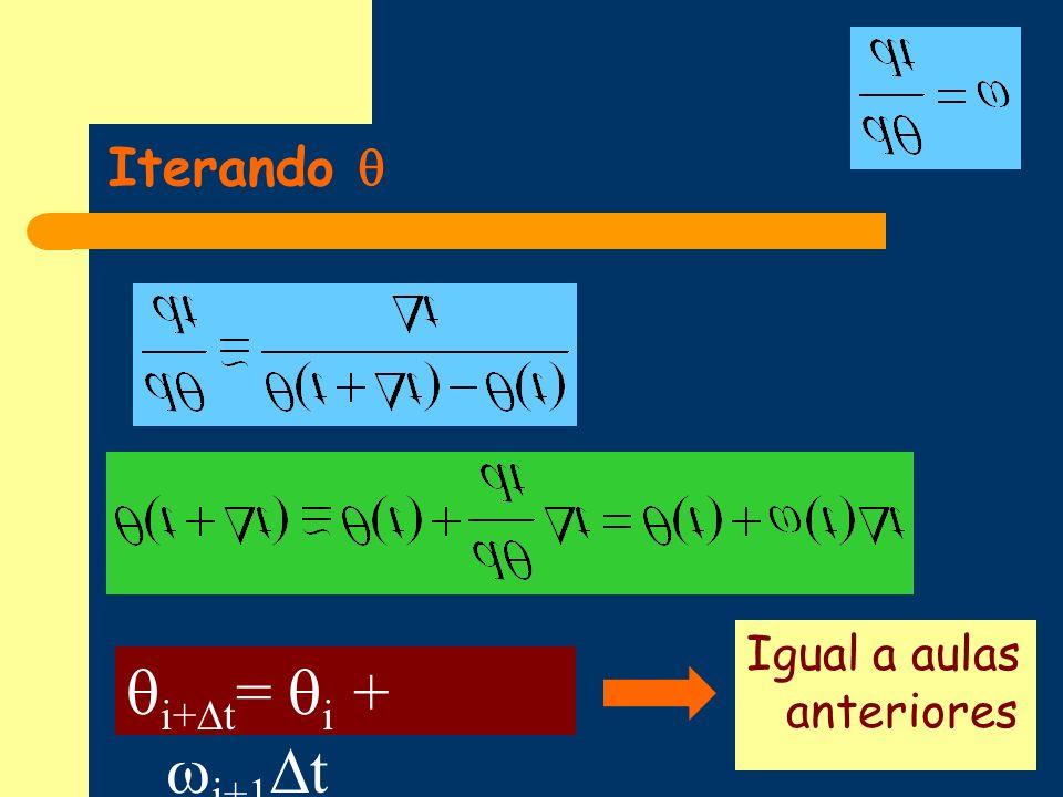 Iterando i+ t = i + i+1 t Igual a aulas anteriores