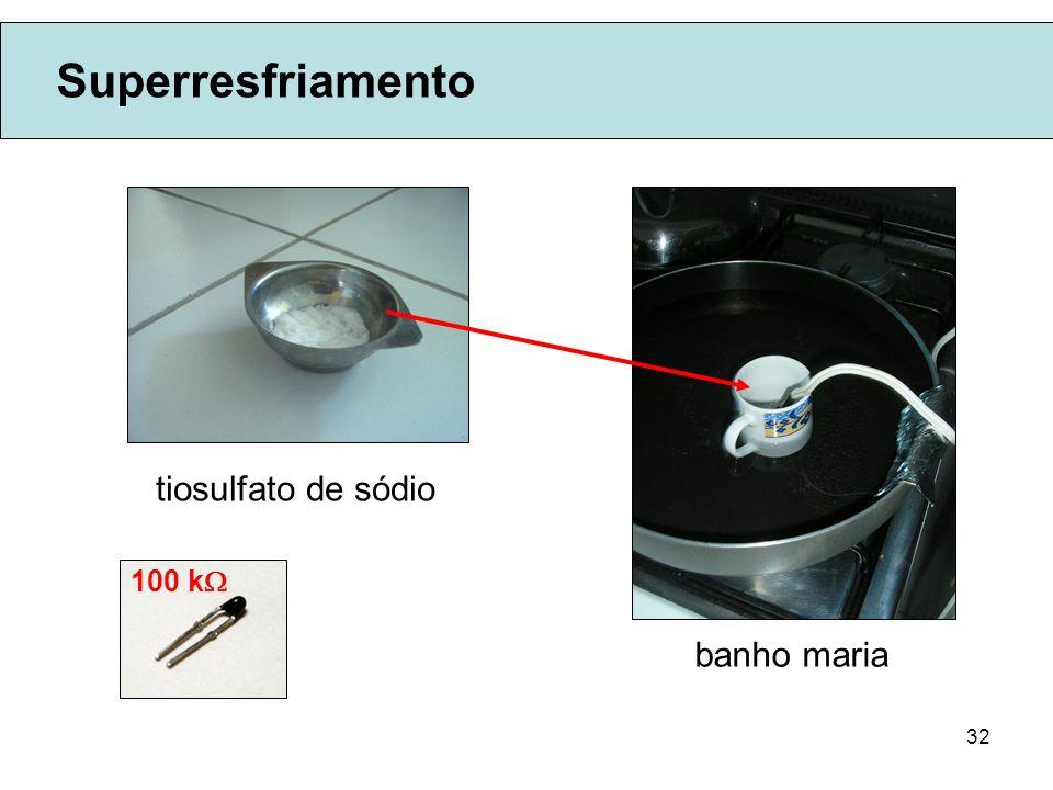 32 Superresfriamento tiosulfato de sódio banho maria 100 k