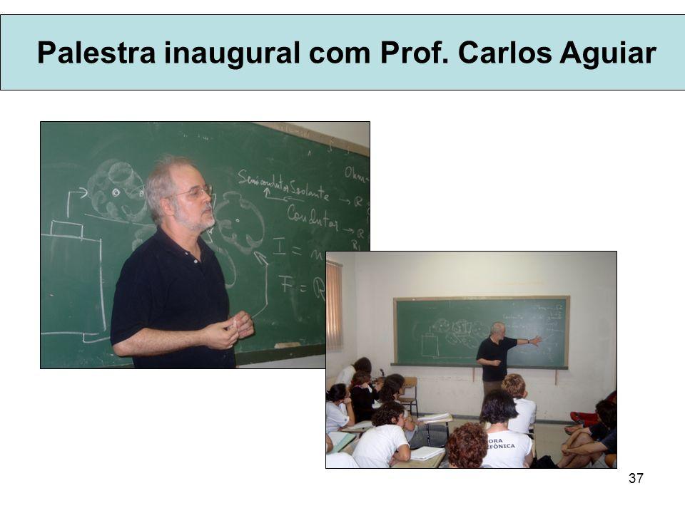 37 Palestra inaugural com Prof. Carlos Aguiar