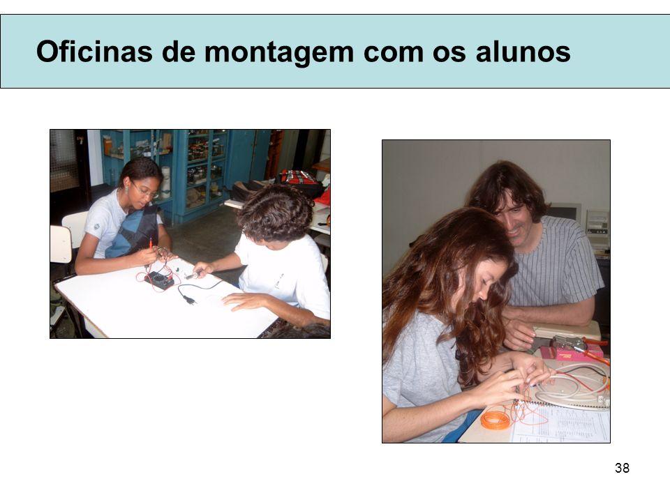 38 Oficinas de montagem com os alunos
