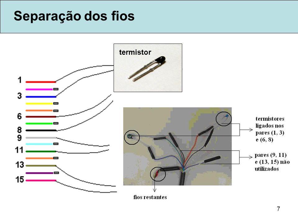 7 Separação dos fios termistor