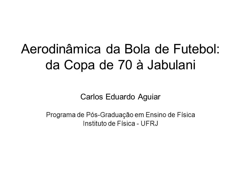 Aerodinâmica da Bola de Futebol: da Copa de 70 à Jabulani Carlos Eduardo Aguiar Programa de Pós-Graduação em Ensino de Física Instituto de Física - UF