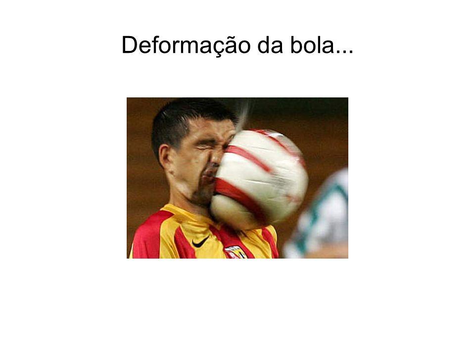 Deformação da bola...