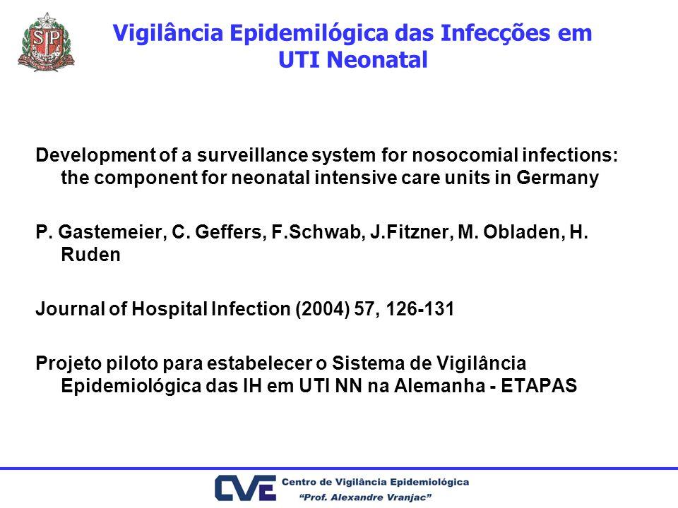 Vigilância Epidemilógica das Infecções em UTI Neonatal Development of a surveillance system for nosocomial infections: the component for neonatal inte