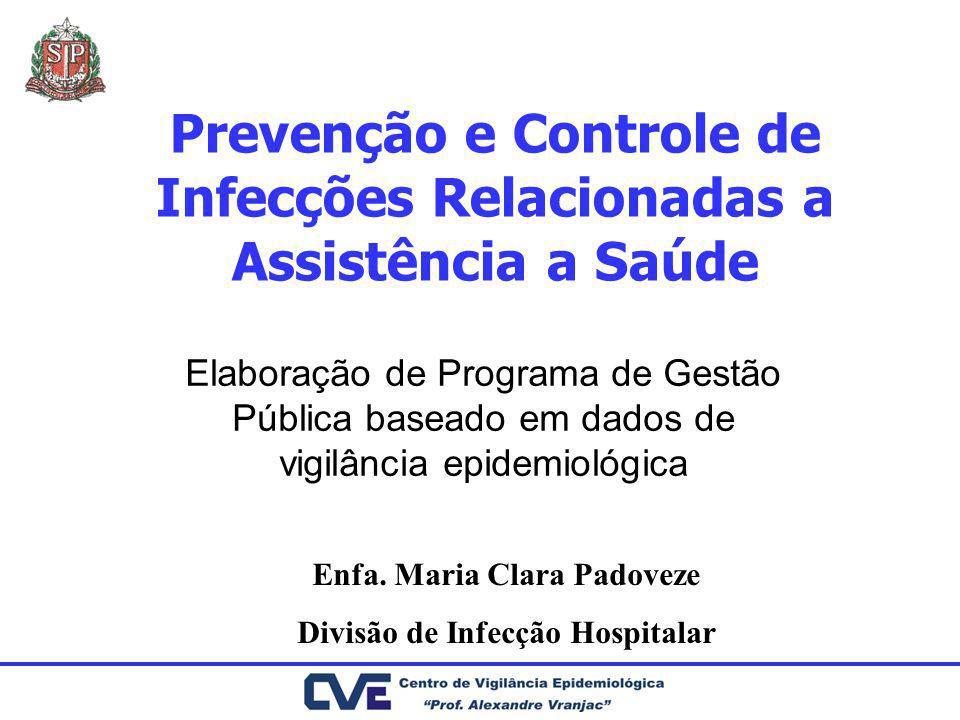 Prevenção e Controle de Infecções Relacionadas a Assistência a Saúde Elaboração de Programa de Gestão Pública baseado em dados de vigilância epidemiol