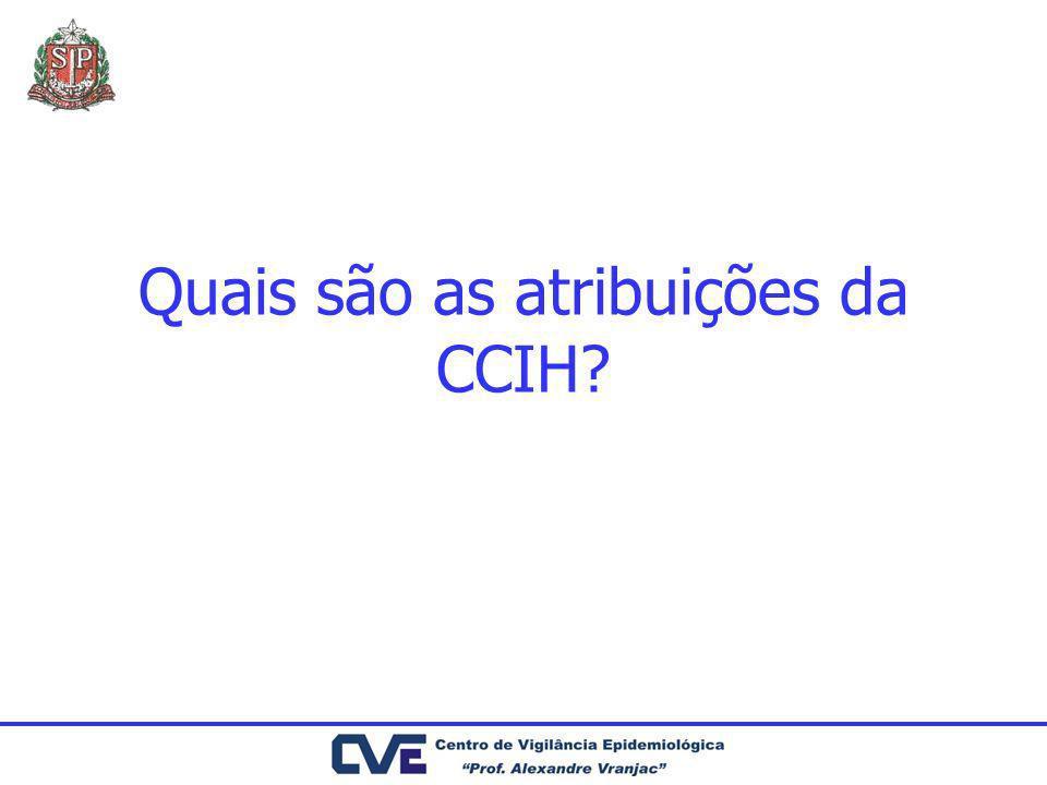 Quais são as atribuições da CCIH?