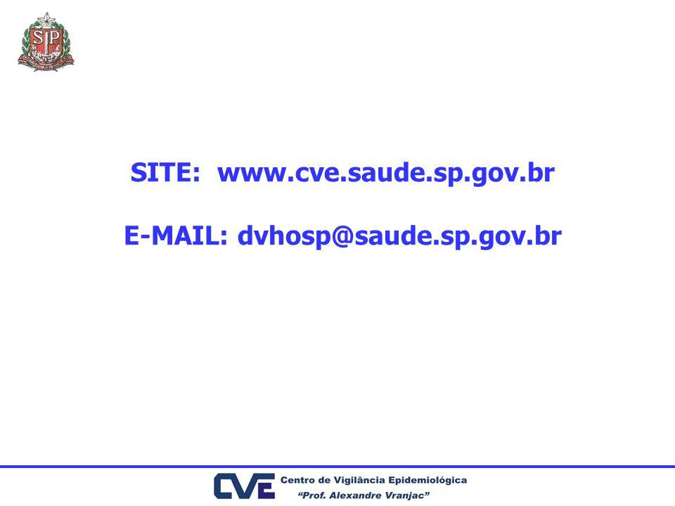 SITE: www.cve.saude.sp.gov.br E-MAIL: dvhosp@saude.sp.gov.br