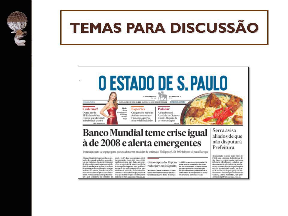 O Brasil também depende muito das exportações de commodities (minério de ferro, carne, alimentos, etc) para a China e o mundo.