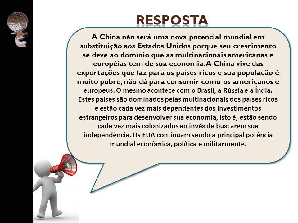PERGUNTA PARA GRUPO 4 O governo brasileiro diz que o país está protegido da crise internacional.