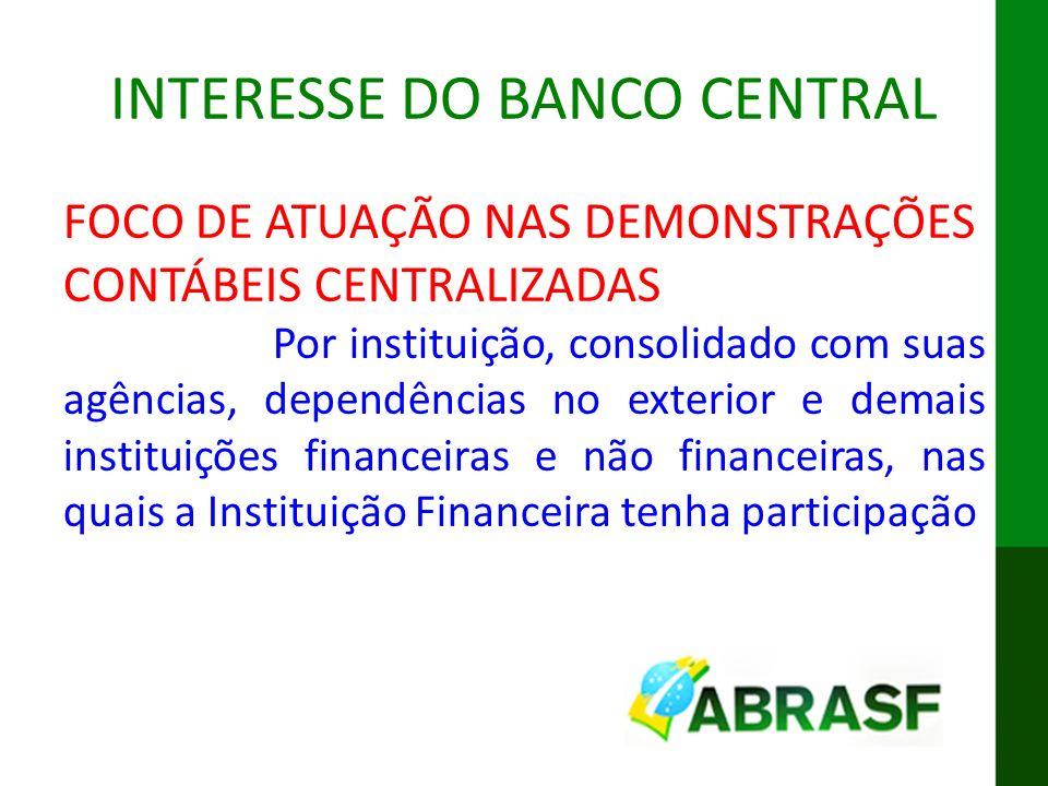IX ENAT MODELO CONCEITUAL DA DES-IF INTERESSE DO BANCO CENTRAL FOCO DE ATUAÇÃO NAS DEMONSTRAÇÕES CONTÁBEIS CENTRALIZADAS Por instituição, consolidado