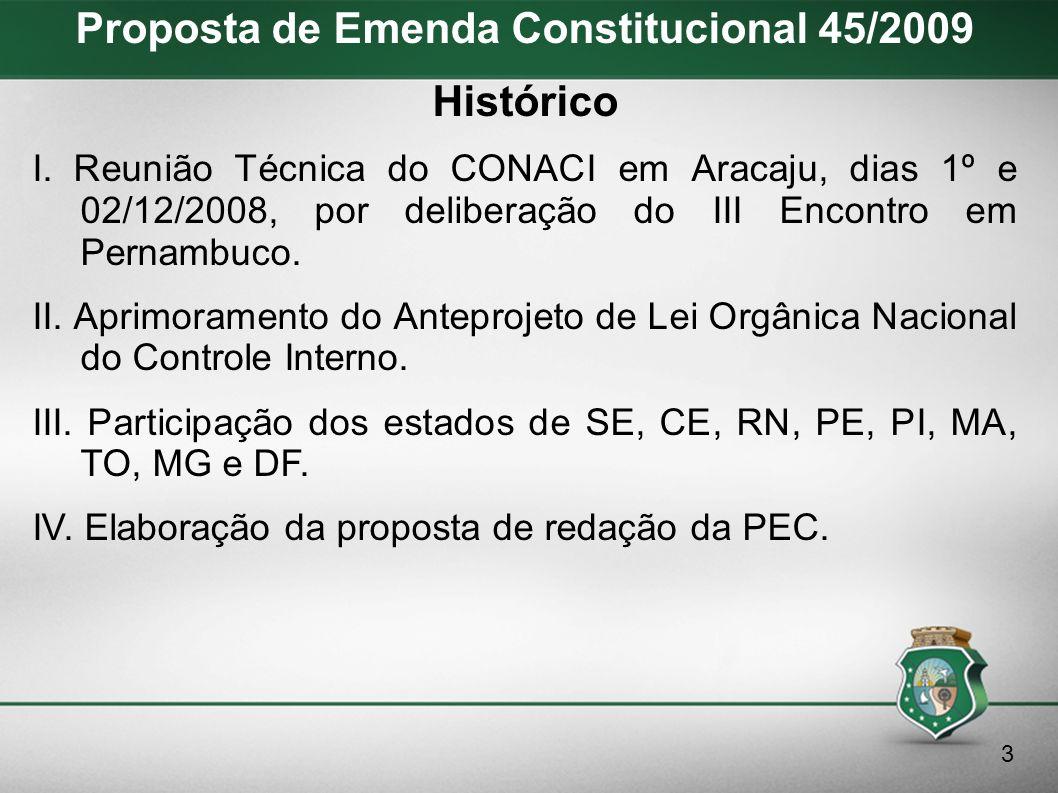 Proposta de Emenda Constitucional 45/2009 Texto Original Art.