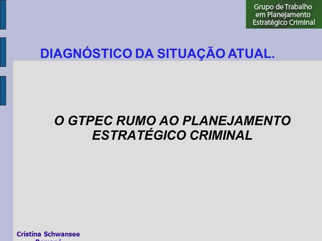 O GTPEC RUMO AO PLANEJAMENTO ESTRATÉGICO CRIMINAL DIAGNÓSTICO DA SITUAÇÃO ATUAL.